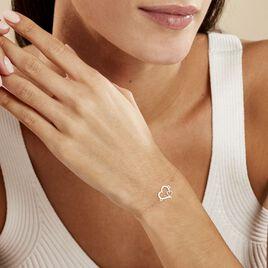 Bracelet Estello Or Bicolore - Bracelets Coeur Femme   Histoire d'Or