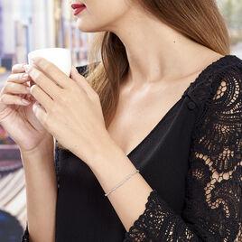 Bracelet Cathel Argent Blanc - Bracelets fantaisie Femme | Histoire d'Or