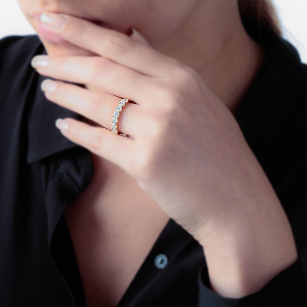 Alliance Eloise Or Jaune Diamant - Alliances Femme   Histoire d'Or