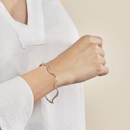 Bracelet Caralia Plaque Or Jaune Oxyde De Zirconium - Bijoux Femme | Histoire d'Or