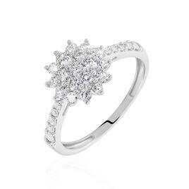 Bague Or Blanc  Chouchana Diamant Synthetique - Bagues avec pierre Femme | Histoire d'Or