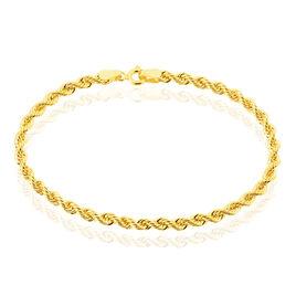 Bracelet Jerry Maille Corde Or Jaune - Bracelets chaîne Femme   Histoire d'Or