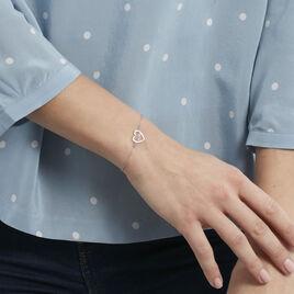 Bracelet Lovia Argent Blanc - Bracelets Coeur Femme   Histoire d'Or