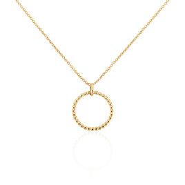 Collier Abigael Plaque Or Jaune - Colliers fantaisie Femme   Histoire d'Or