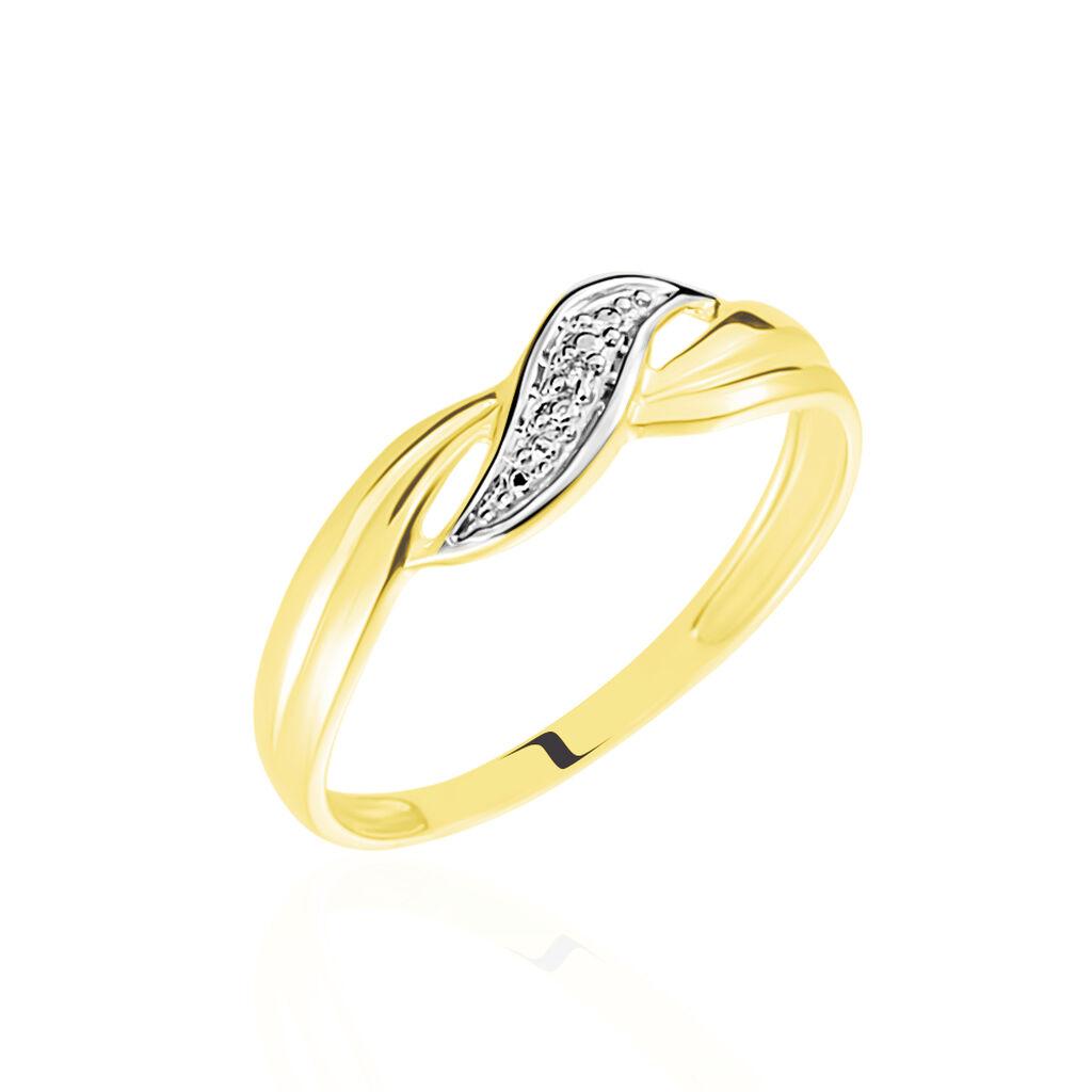 Bague Amayas Or Bicolore Diamant - Bagues avec pierre Femme | Histoire d'Or