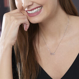 Collier Maryeme Infini Selectra Or Blanc - Colliers Infini Femme | Histoire d'Or