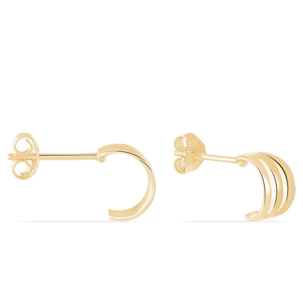 Créoles Dally Plaque Or Jaune - Boucles d'oreilles créoles Femme | Histoire d'Or