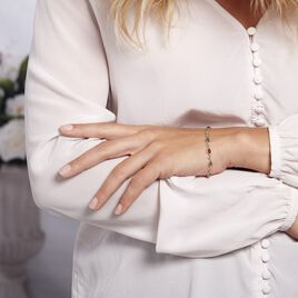 Bracelet Weronika Argent Blanc Ambre - Bijoux Femme   Histoire d'Or