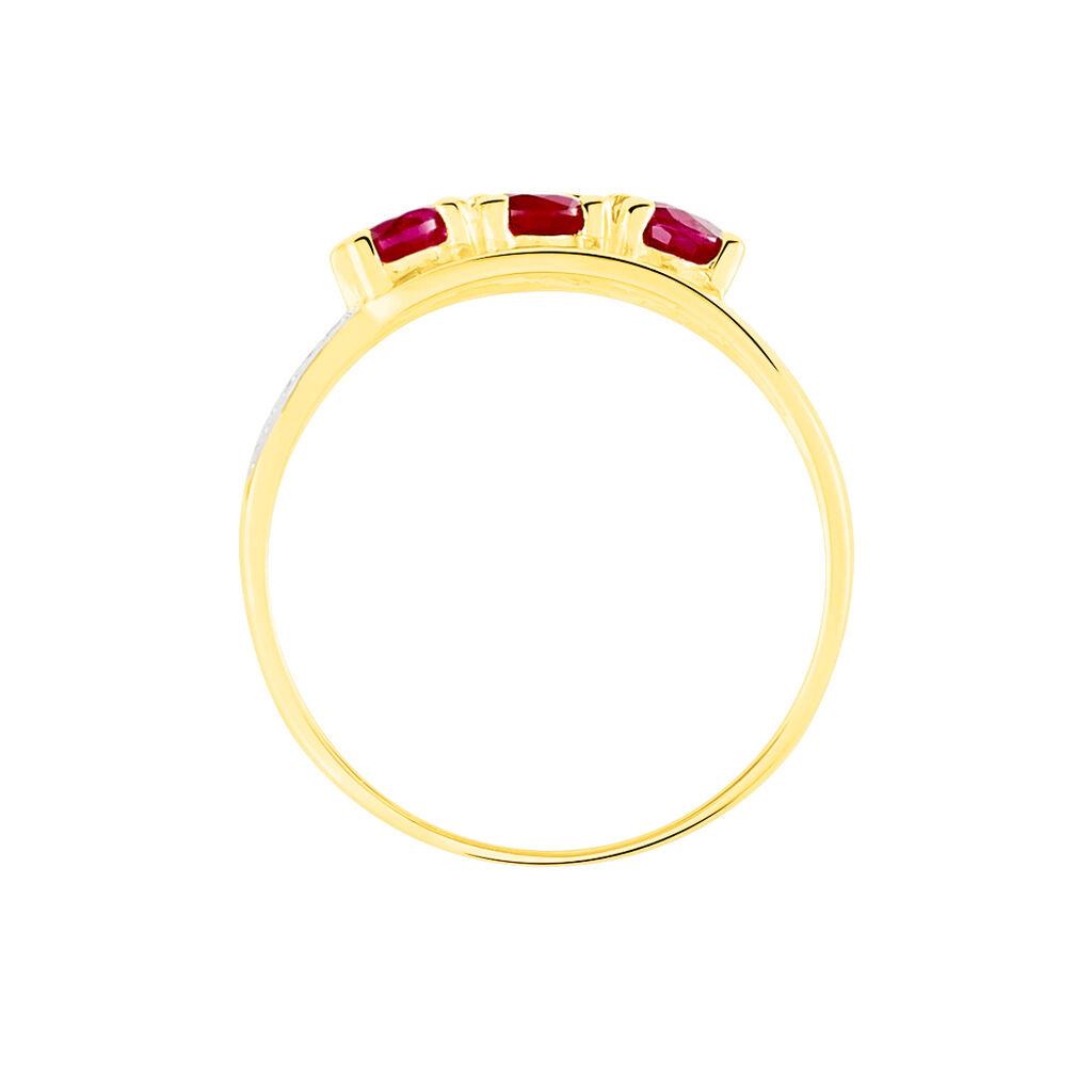 Bague Aurora Or Jaune Rubis - Bagues avec pierre Femme   Histoire d'Or
