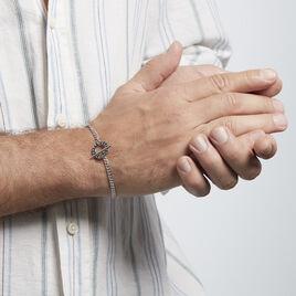 Bracelet Argent Rhodié Crocus - Bijoux Homme | Histoire d'Or