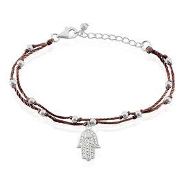 Bracelet Argent Pick And Choose Main De Fatma Oxyde - Bracelets Main de Fatma Femme | Histoire d'Or