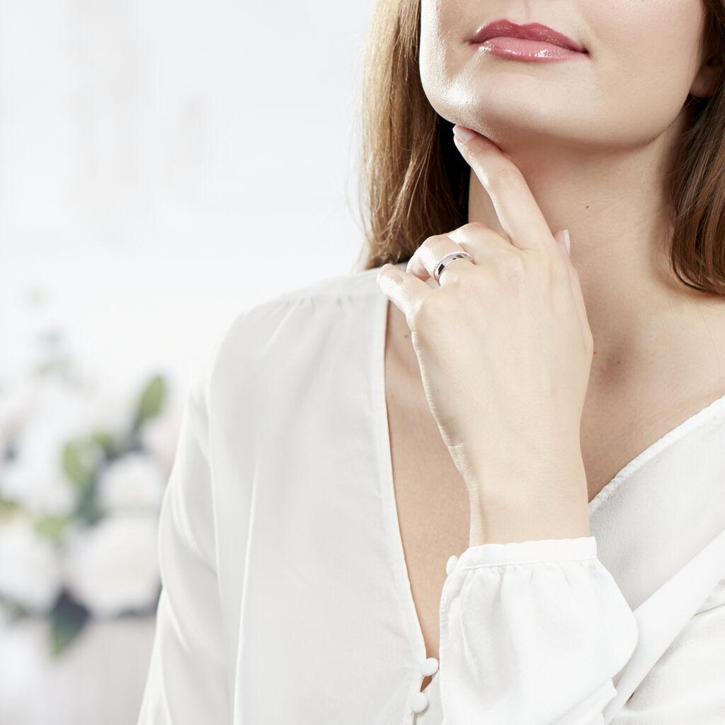 Bague Katiana Or Blanc Oxyde De Zirconium - Bagues avec pierre Femme   Histoire d'Or