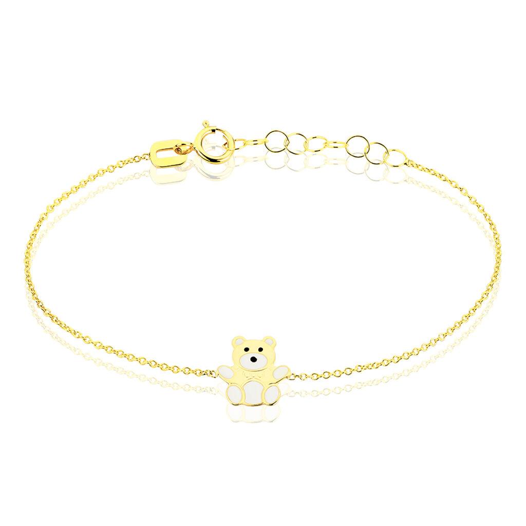 Bracelet Mae Ourson Or Jaune - Bracelets Naissance Enfant   Histoire d'Or