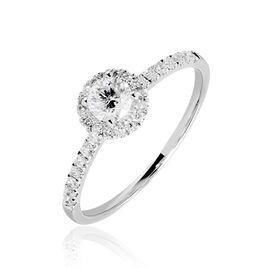 Bague Solitaire Lena Platine Blanc Diamant - Bagues avec pierre Femme | Histoire d'Or