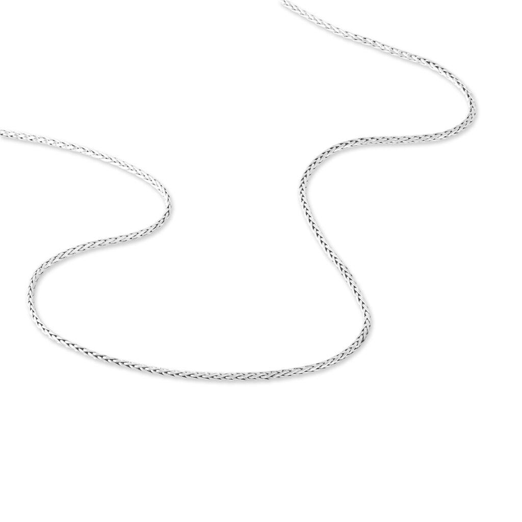 Chaîne Nour-houda Maille Palmier Or Blanc - Chaines Femme | Histoire d'Or