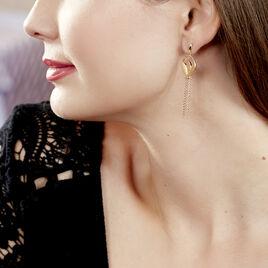 Boucles D'oreilles Pendantes Carolia Plaque Or Jaune - Boucles d'oreilles fantaisie Femme   Histoire d'Or