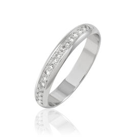 Alliance Vannie Or Blanc Diamant - Alliances Femme | Histoire d'Or