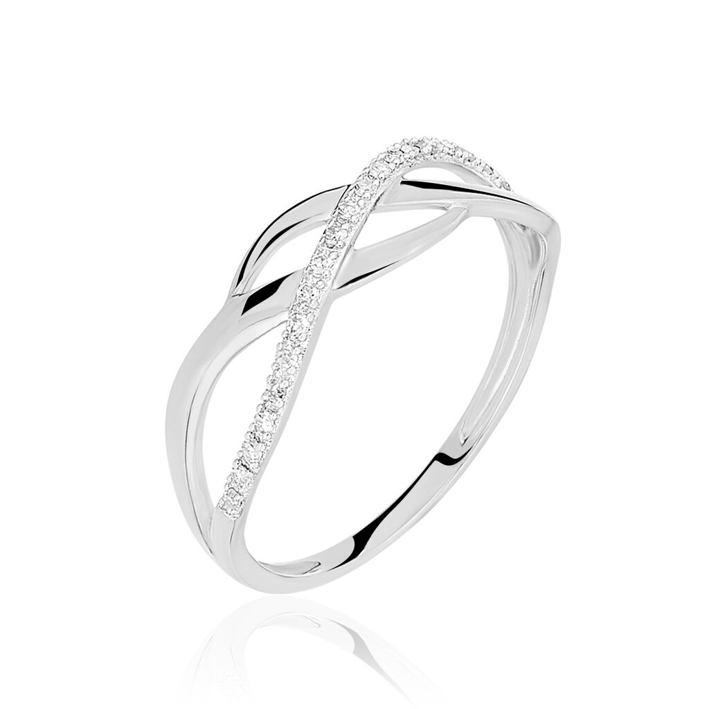 Bague Omnia Or Blanc Diamant