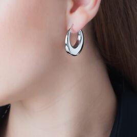 Creoles Acier - Boucles d'oreilles créoles Femme | Histoire d'Or