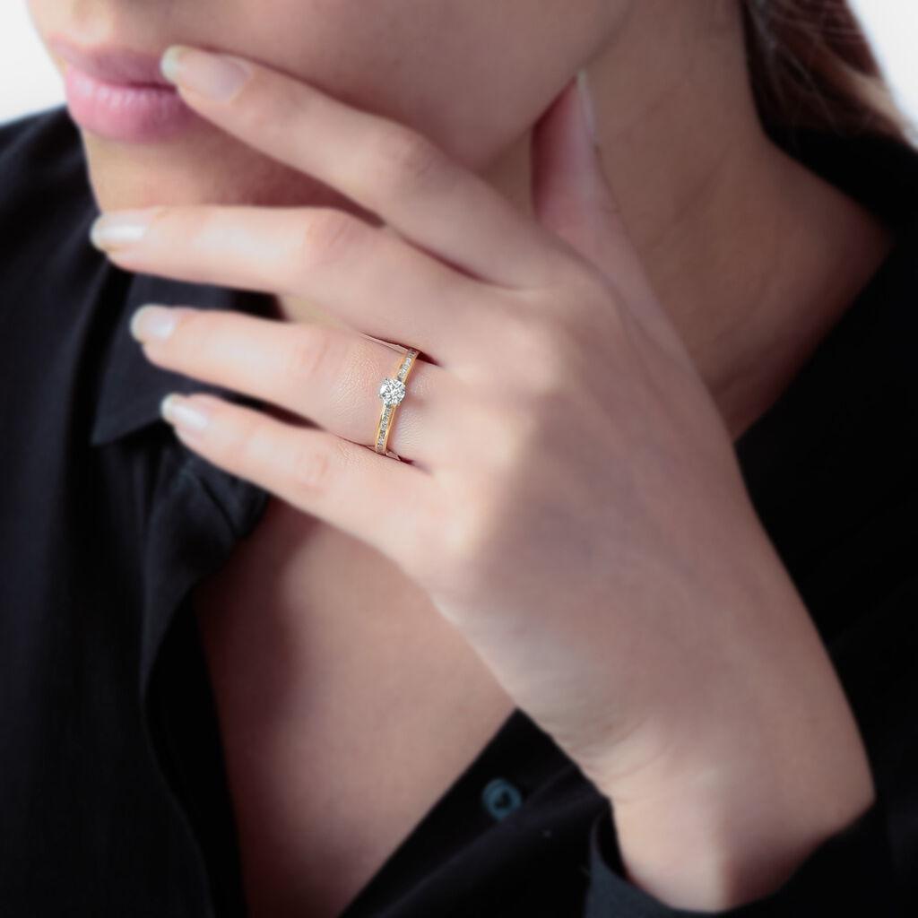 Bague Harem Or Jaune Oxyde De Zirconium - Bagues solitaires Femme | Histoire d'Or