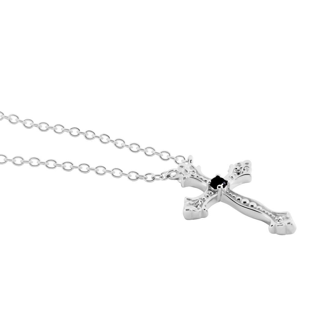 Collier Argent Rhodie Florian Oxydes De Zirconium - Colliers Croix Femme | Histoire d'Or