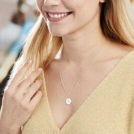 Collier Perona Argent Blanc Oxyde De Zirconium - Colliers Etoile Femme   Histoire d'Or