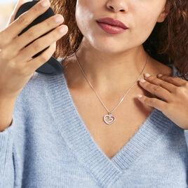 Collier Annabelle Argent Blanc Oxyde De Zirconium - Colliers Coeur Femme | Histoire d'Or