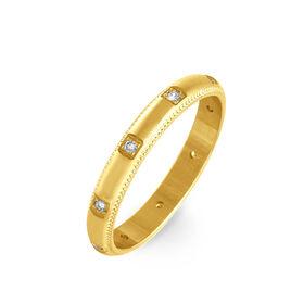 Alliance Amore Or Jaune Diamant - Alliances Femme   Histoire d'Or