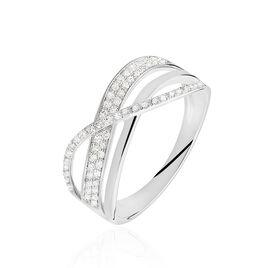 Bague Emilie Or Blanc Diamant - Bagues avec pierre Femme   Histoire d'Or