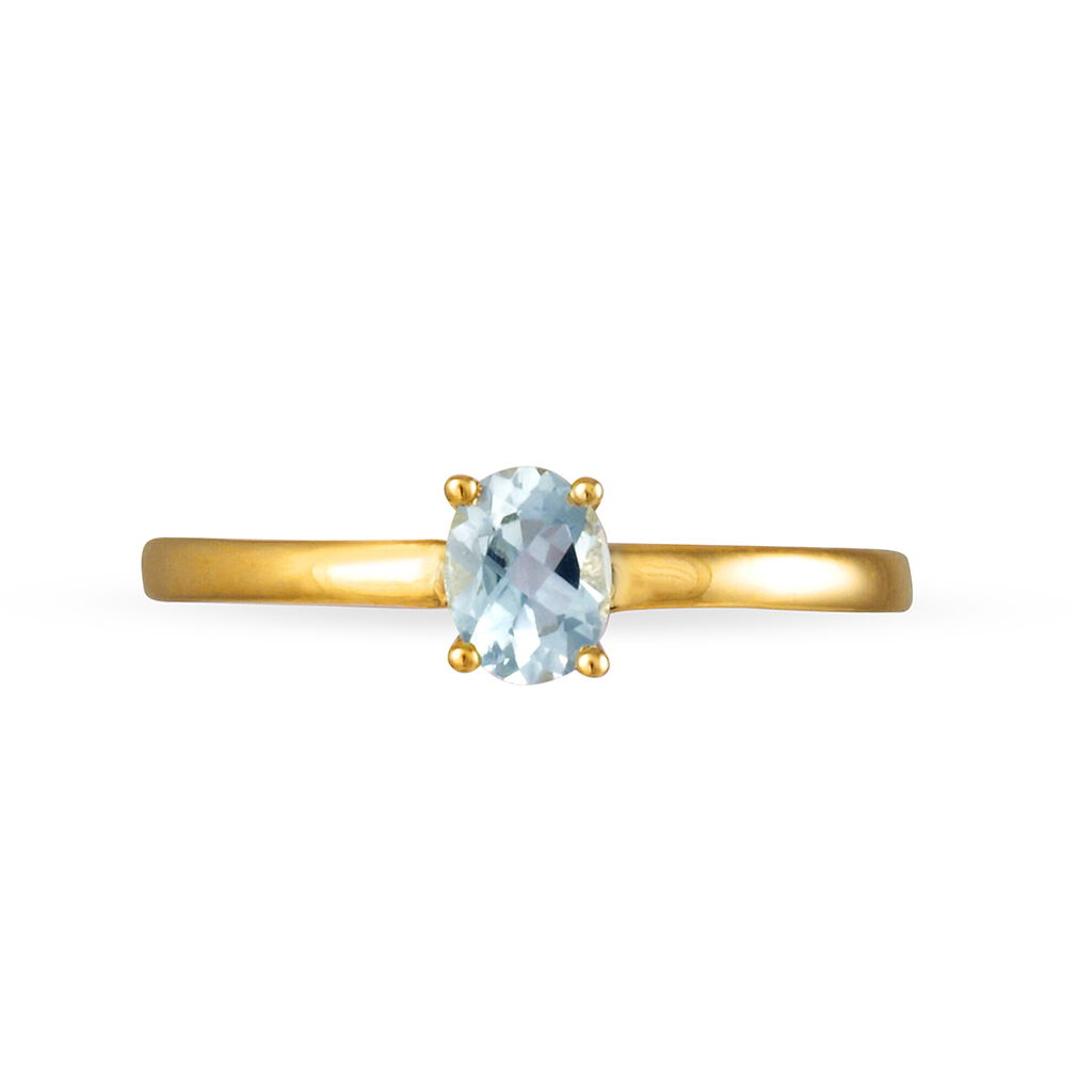 Bague Lily Or Jaune Aigue Marine