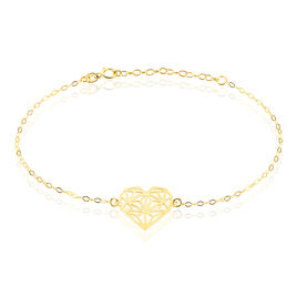 Bracelet Or Jaune - Bracelets Coeur Femme   Histoire d'Or