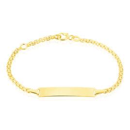 Bracelet Identité Euphenia Maille Bismark Or Jaune - Bracelets Communion Enfant | Histoire d'Or