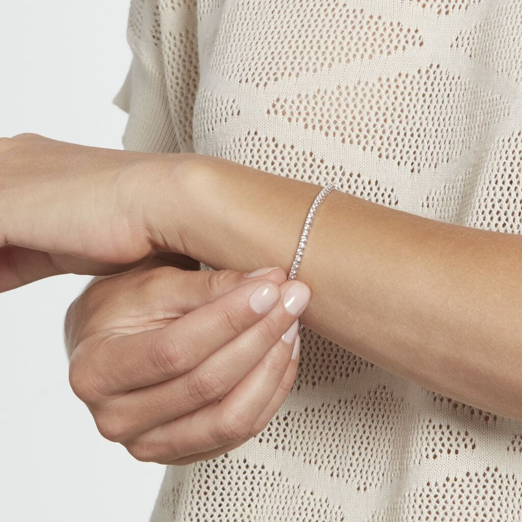 Bracelet Elios Argent Blanc Oxyde De Zirconium - Bracelets fantaisie Femme | Histoire d'Or