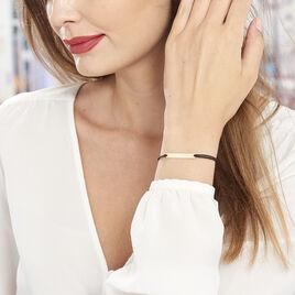 Bracelet Barrette Gravable Or Jaune - Bracelets cordon Femme   Histoire d'Or