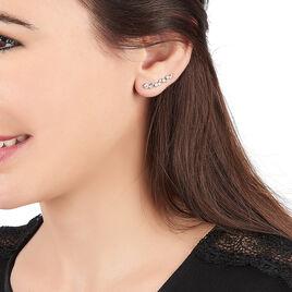 Boucles D'oreilles Pendantes Enza Argent Blanc Oxyde De Zirconium - Boucles d'oreilles fantaisie Femme | Histoire d'Or