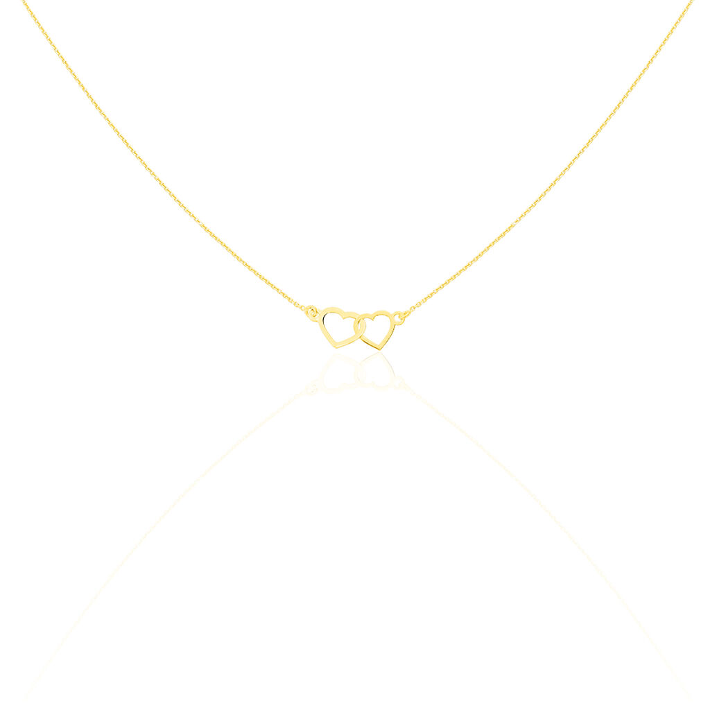 Collier Eleno Or Jaune - Colliers Coeur Femme | Histoire d'Or