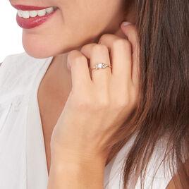 Bague Solitaire Alicea Or Rose Diamant - Bagues avec pierre Femme | Histoire d'Or