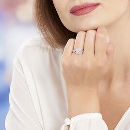 Bague Solitaire Wilona Argent Blanc Oxyde De Zirconium - Bagues solitaires Femme | Histoire d'Or