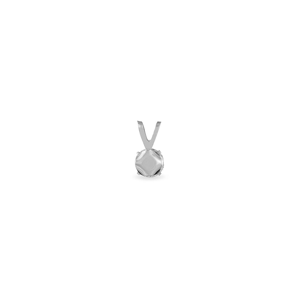 Pendentif Mabila Or Blanc Oxyde De Zirconium - Pendentifs Femme | Histoire d'Or