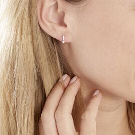 Boucles D'oreilles Puces Bormana Argent Blanc Oxyde De Zirconium - Boucles d'oreilles fantaisie Femme | Histoire d'Or
