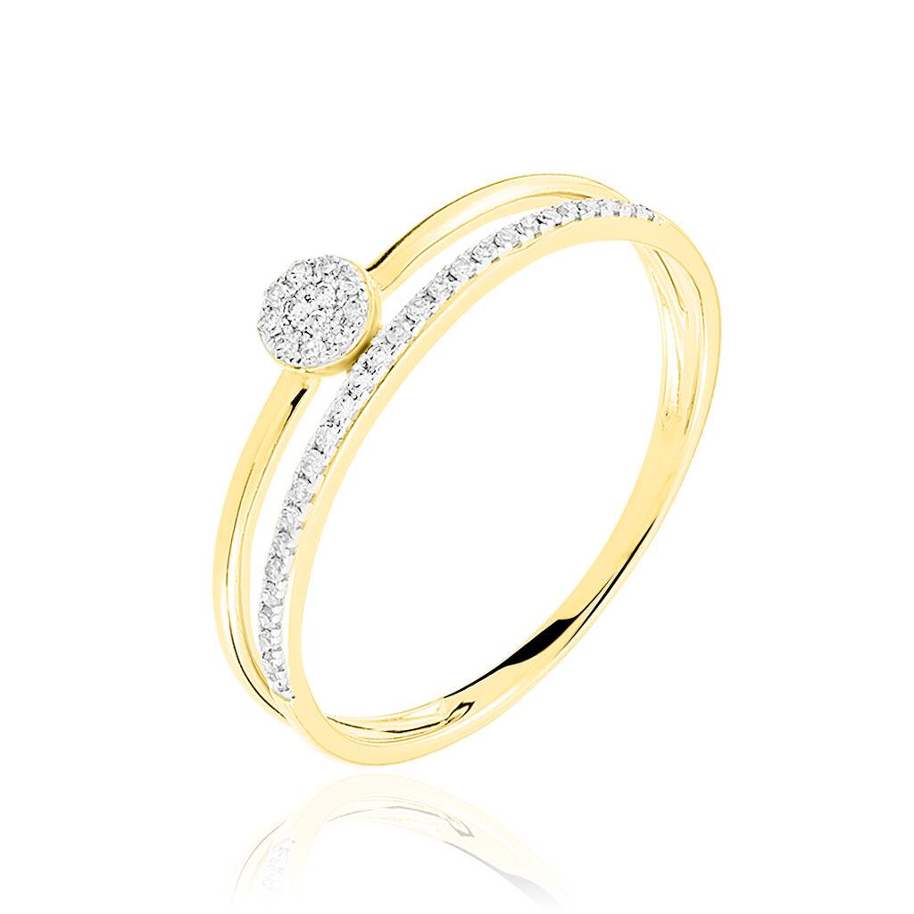 Bague Maellys Or Jaune Diamant - Bagues solitaires Femme   Histoire d'Or