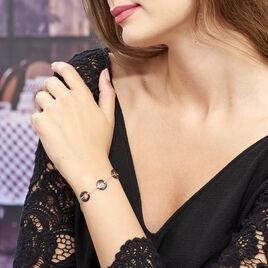 Bracelet Suzanne Argent Blanc Céramique Et Oxyde De Zirconium - Bracelets fantaisie Femme   Histoire d'Or