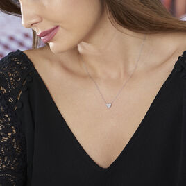 Collier Ti Amo Or Blanc Diamant - Colliers Coeur Femme | Histoire d'Or