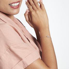 Bracelet Esculape Argent Rhodié Oxyde - Bracelets fantaisie Femme   Histoire d'Or