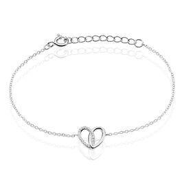 Bracelet Guilia Argent Blanc Oxyde De Zirconium - Bracelets Coeur Femme | Histoire d'Or