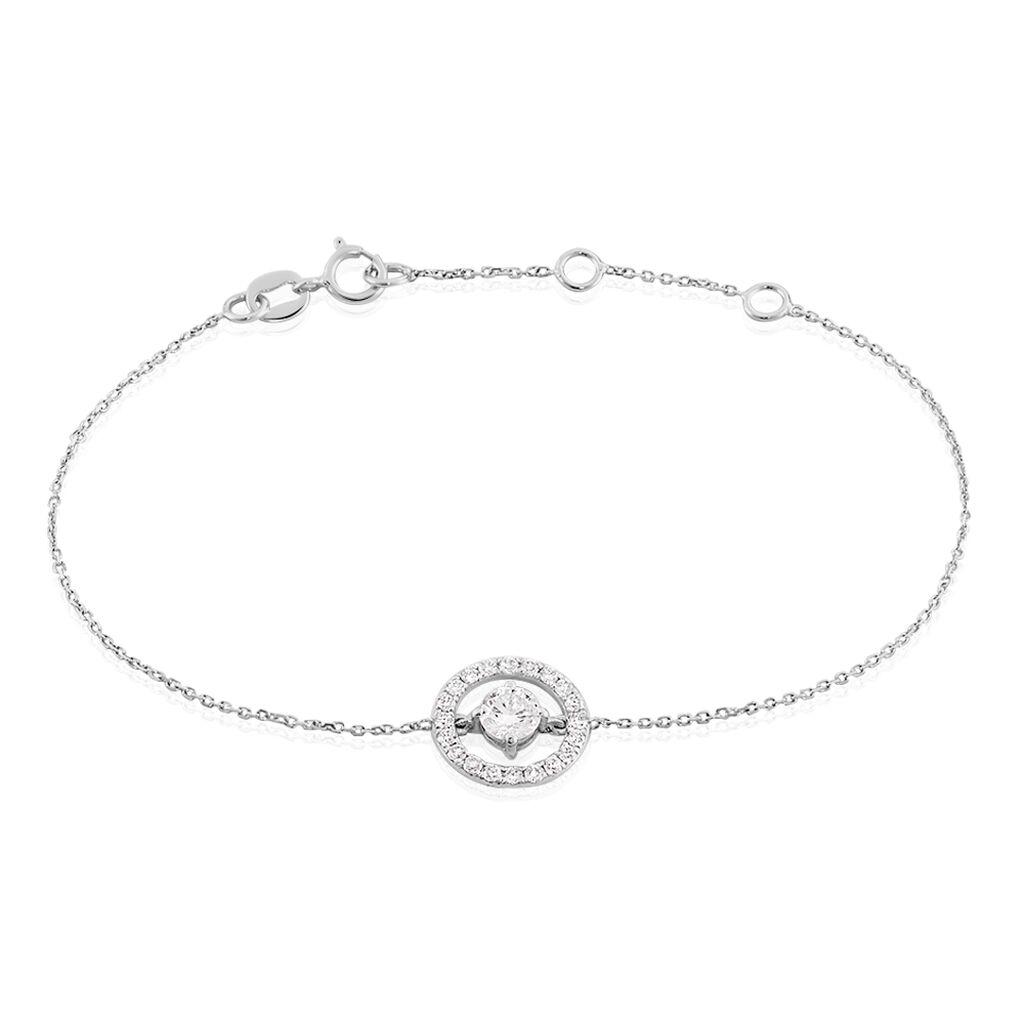 Bracelet Lucyna Or Blanc Oxyde De Zirconium - Bijoux Femme | Histoire d'Or