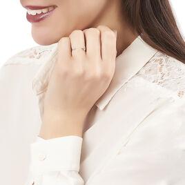 Bague Mosaique Argent Blanc Oxyde De Zirconium - Bagues avec pierre Femme | Histoire d'Or