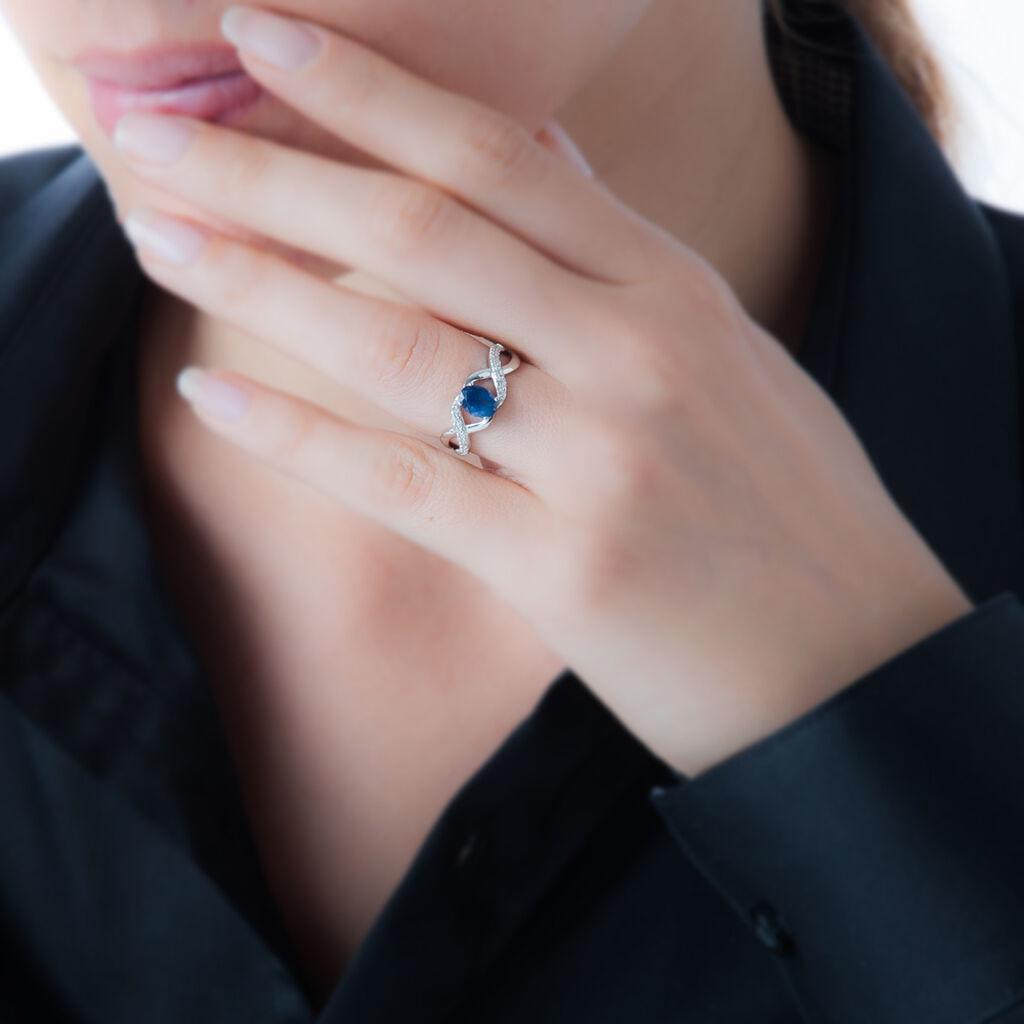 Bague Jess Or Blanc Saphir Et Diamant - Bagues solitaires Femme | Histoire d'Or