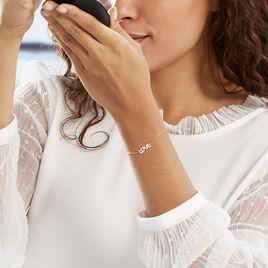 Bracelet Tinnia Or Jaune Oxyde De Zirconium - Bracelets Coeur Femme   Histoire d'Or