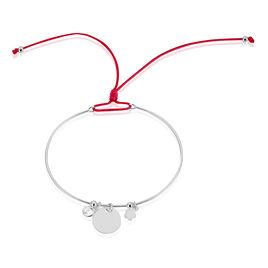 Bracelet Jonc Ravenna Argent Blanc Oxyde De Zirconium - Bracelets cordon Femme   Histoire d'Or